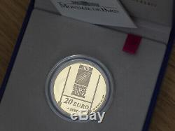 France 20 Euro 2007 Be Or 17g Rugby World Cup (498ex.) Very Rare Gold 12oz