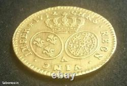 France Currency Of 1/2 Half Louis D'or Of Louis XV 1732 In Paris Very Rare / Gold