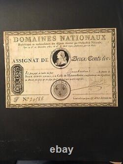 France Louis XVI Very Rare Assignat Of 200 Books