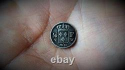 France Louis XVIII Very Rare 1/4 (quarter) Franc 1818 W