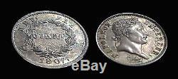 France Napoleon I Very Very Rare Quarter (1/4) Franc 1807 A Sup