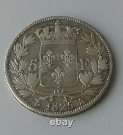 France Royal Mint Rare Shield Of 5 Francs. 1825 A. V Upside