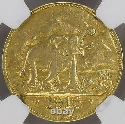 German East Africa 15 Rupien 1916 Tabora Ngc Au Superb Very Rare Copy