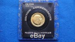 Gold Medal / Pure Gold 24k De Gaulle Paris Mint Very Rare 8.86 G