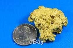 Grand Gold Nugget Australian Natural 68.60 Grams 2.20 Troy Ounces Very Rare