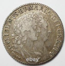Great Britain's Tres Rare Shilling Silver 1692 With A/r In Gratia