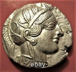 Greek Grece Tetradrachme Athens Athena Attica Owl-very Rare In The State! Spl