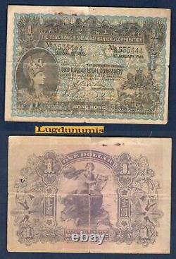 Hong Kong 1 Dollar 1/1/1923 Tb Very Rare Asia