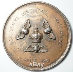 II Republic Very Rare Royalist Medal We Want A King February 1851
