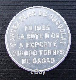Ivory Coast Very Rare Medal Alu On Chocolate 1925 View Description