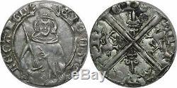 L9428 Very Rare Aquitaine Édouard IV Black Prince Bold Tarbes Silver Sup Mo