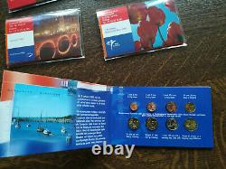 Lot 5 Pays-bas Boxes Including Euro Mini Bu Very Rare 8 Pieces 1998 To 2002
