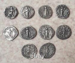 Lot Of 10 Beautiful Roman Deniers In Silver State Tb/ttb. Very Beautiful Quality! Rare