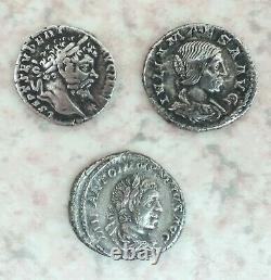 Lot Of 10 Beautiful Roman Deniers In Silver State Tb/ttb. Very Beautiful Quality! Rare