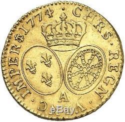 Louis Louis XV Gold With Old Head 1774 Paris Splendid Rare