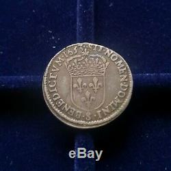 Louis XII Of Crown Long Wick, 1653 Troyes. Very Rare