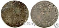Louis XIV 1/4 Ecu A Tie 1679 Aix Tres Rare