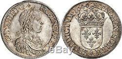 Louis XIV Ecu In The Long Wick 1646 Paris Splendid Very Rare Quality