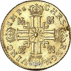 Louis XIV Louis Golden Sun In 1709 Toulouse Superb Rare Copy