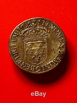 Louis XIV Superb Half Crown In 1659 To 9 Juvenile Bust, Very Rare, Listed 300 Apcs