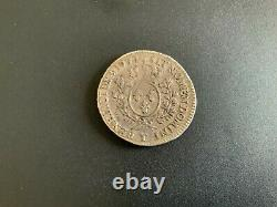 Louis XV 1/2 Ecu Old Head 1771 T (nantes) Rarely Found Patina