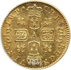 Louis XV Gold Half Louis De Noailles Very Rare Pcgs Ms63 Top Grade Quality Spl