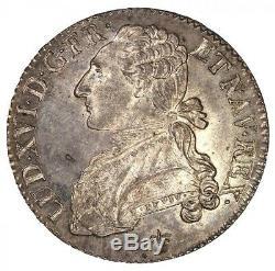 Louis XVI Half 1783 Ecu Rare Ngc Ms64 Pl Rochelle Beautiful Prooflike