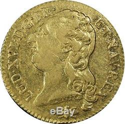 Louis XVI Louis D'or Bareheaded 1785 D Lyon Very Rare Pcgs Au50