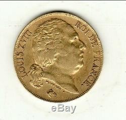 Louis XVIII Found Rare 20 Francs Or 1816 Apc + Q 8138 Exempl