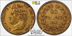 Louis-philippe 20 Francs Or 1846 Lille Superb Pcgs Au53 Very Rare