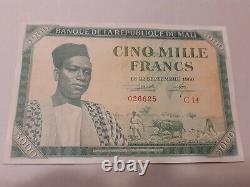 Mali Rare5000 Francs 1960 Good Condtion Tres Good State