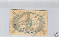 Martinique 5 Francs Nd (1922-1929) Alphabet A. 132 Pick 6 A Very Rare