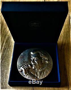 Medal Bronze Johnny Hallyday Very Rare (small Print)