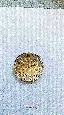 Monaco 2 Euros Grace Kelly 2007 State Super Rare New State