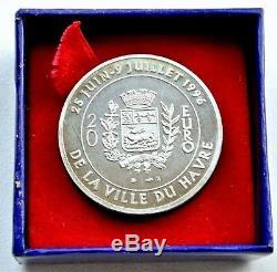 Money Paris Silver Piefort 20 Euro 1996 Bridge Normandy (very Rare / 50 Exemp)