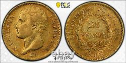 Napoleon 20 Francs Or 1807 Lille Superb Pcgs Au53 Highest Rank Very Rare