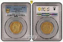 Napoleon 40 Francs Gold 1807 Paris Head Laureate Very Rare Superb Pcgs Au55