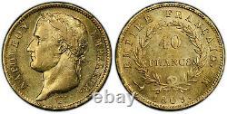 Napoleon 40 Francs Gold 1809 Toulouse Pcgs Au55 Superb Very Rare