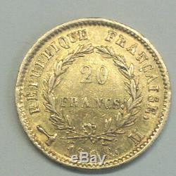 Napoleon Emperor Rare Ttb + 20 Francs Or1808 M Very Hard To Find