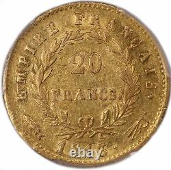Napoleon I 20 Francs Gold 1813 Utrecht Pcgs Au 53 Very Rare