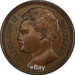 Napoleon II 5 Francs 1816 Bronze Test Superb Pcgs Sp62 Bn Rare
