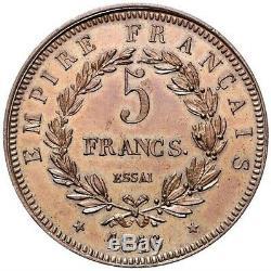 Napoleon II 5 Francs 1816 Essai Very Rare Splendid
