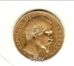 Napoleon III Nue Head 20 Francs Or 1857a Sup Condition Very Rare