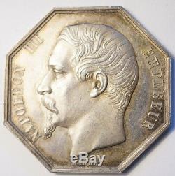 Napoleon III Very Rare Silver Token Cie Forge & Fonderies Dordogne 1838