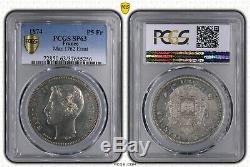 Napoleon IV Test Of 5 Francs 1874 Pcgs Sp63 Splendid Mirror Flan Very Rare