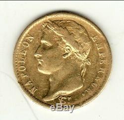 Napoleon January 20 Francs Or St Q 1813 Ttb Rare 13033 Copy
