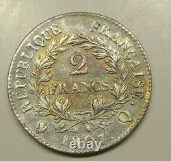 Napoleon Tres Rare 2 Francs 1807 Q Quasi Sup Admired Old Medalist Skate