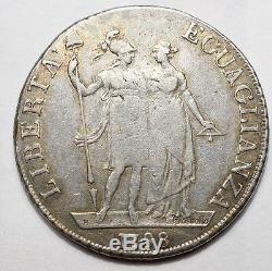Napoleonides Italy Ligurian Republic Very Rare 4 Lira 1798