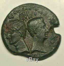 Nimes Nemausus Augustus And Agrippa Dupondius Col Nem (as) Barbu Rare