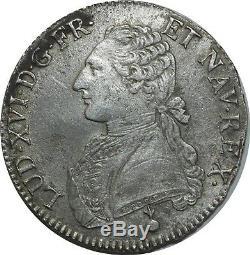 O1504 Rare Ecu Louis XVI In 1789 Aa Metz Silver -f Offers